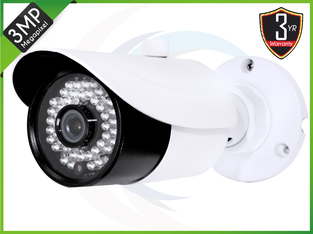 TEKIP-IR3S42-3.6 3MP HD IP IR Bullet 3.6mm Fixed Lens Camera